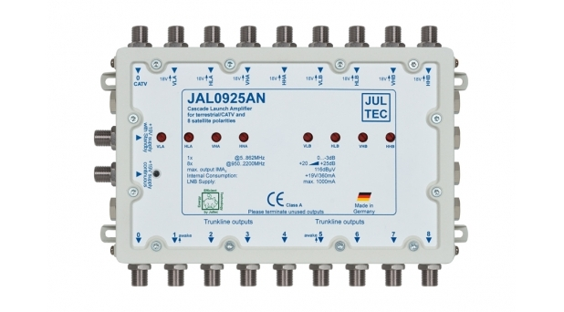 JAL0925AN Kaskadenstartverstärker Terrestrik passiv - 08x 25dB